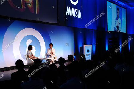 Akihito Kunimi (Executive Creative Director, Dentsu Inc.), left, and Tomoyasu Hotei (Musician & Record Producer)