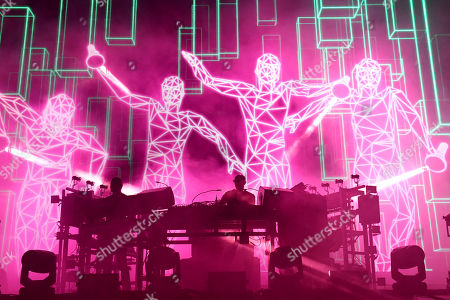 Stock Photo of Tom Rowlands and Ed Simons - Chemical Brothers