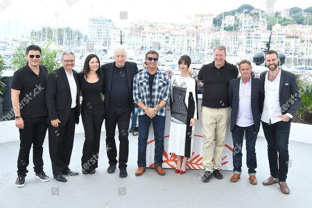 Stock Picture of Jonathan Yunger, Victor Hadida, Christa Campbell, Avi Lerner, Sylvester Stallone, Paz Vega, Yariv Lerner, Kevin King and Jeff Greenstein