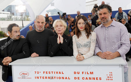 Jury member Greek screenwriter Panos H. Koutras, Jury member Israeli screenwriter Eran Kolirin, Jury President Claire Denis of France and Jury member French-British actress Stacy Martin and Jury member Romanian producer Catalin Mitulescu pose during the photocall for Cinefondation and Shorts at the 72nd annual Cannes Film Festival, in Cannes, France, 24 May 2019. The movie is presented in the section Special Screenings of the festival which runs from 14 to 25 May.