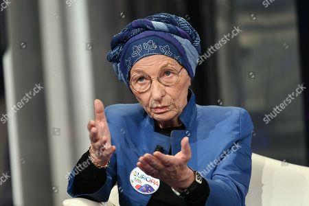 Leader of +Europa party Emma Bonino