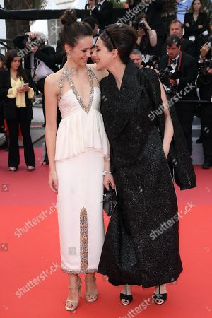 Stacy Martin and Amira Casar