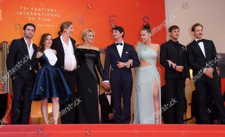 Arthur Harari, Laure Calamy, Justine Triet, Virginie Efira, Niels Schneider, Adele Exarchopoulos, Gaspard Ulliel and Paul Hamy