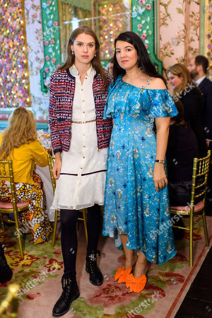 Sabrina Percy and Designer Gyunel Rustamova