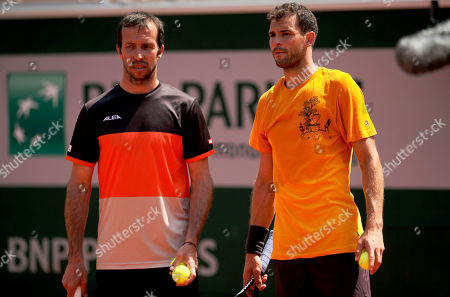 Grigor Dimitrov of Bulgaria with new coach Radek Stepanek