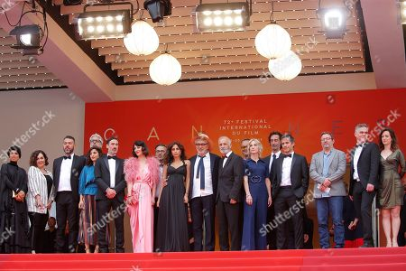 Qatari producer Fatma Hassan Al Remaihi, a guest, Israeli actor Karim Ghneim, French actress Yasmine Haj, Canadian actor Fadi Sakr, Canadian actress Raia Haidar, Lebanese actress Yasmine Hamdan, Palestine director Elia Suleiman, Canadian producer Nancy Grant, Israeli actor Tarik Kopty, Mexican actor Gael Garcia Bernal, French actor Vincent Maraval, and other guests arrive for the screening of 'It Must Be Heaven' at the 72nd annual Cannes Film Festival, in Cannes, France, 24 May 2019. The movie is presented in the Official Competition of the festival which runs from 14 to 25 May.