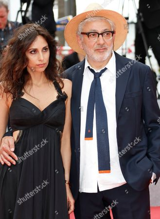 Palestine director Elia Suleiman (R) and Lebanese actress Yasmine Hamdan arrive for the screening of 'It Must Be Heaven' at the 72nd annual Cannes Film Festival, in Cannes, France, 24 May 2019. The movie is presented in the Official Competition of the festival which runs from 14 to 25 May.