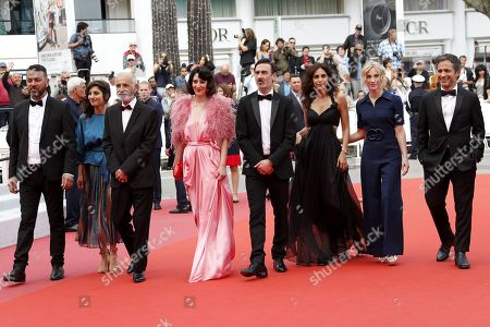 Israeli actor Karim Ghneim, French actress Yasmine Haj, Israeli actor Tarik Kopty, Lebanese actress Raia Haidar, Canadian actor Fadi Sakr, Lebanese actress Yasmine Hamdan, Canadian producer Nancy Grant and Mexican actor Gael Garcia Bernal arrive for the screening of 'It Must Be Heaven' at the 72nd annual Cannes Film Festival, in Cannes, France, 24 May 2019. The movie is presented in the Official Competition of the festival which runs from 14 to 25 May.