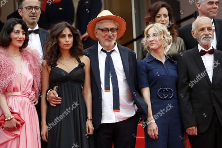 Lebanese actress Raia Haidar, Lebanese actress Yasmine Hamdan, Palestine director Elia Suleiman, Canadian producer Nancy Grant and Israeli actor Tarik Kopty arrive for the screening of 'It Must Be Heaven' at the 72nd annual Cannes Film Festival, in Cannes, France, 24 May 2019. The movie is presented in the Official Competition of the festival which runs from 14 to 25 May.