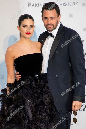 Sara Sampaio, Oliver Ripley. Sara Sampaio and Oliver Ripley pose for photographers upon arrival at the amfAR, Cinema Against AIDS, benefit at the Hotel du Cap-Eden-Roc, during the 72nd international Cannes film festival, in Cap d'Antibes, southern France