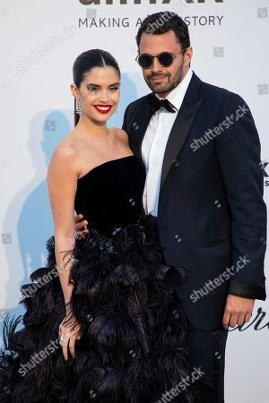Stock Image of Sara Sampaio, Oliver Ripley. Sara Sampaio and Oliver Ripley pose for photographers upon arrival at the amfAR, Cinema Against AIDS, benefit at the Hotel du Cap-Eden-Roc, during the 72nd international Cannes film festival, in Cap d'Antibes, southern France