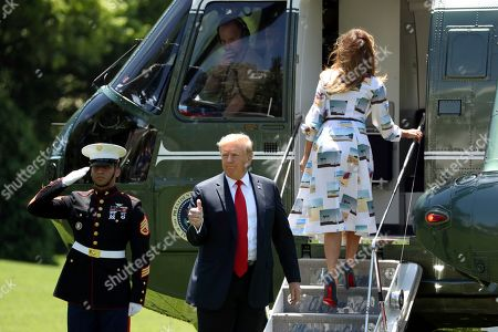 President Donald Trump departs White House heading for Tokyo