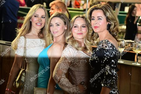 Xenia Seeberg, German actress Tina Ruland, former boxing champion Regina Halmich and TV host Bettina Cramer arrive for the Green Awards held on the occasion of the Green Festivals in Berlin, Germany, 24 May 2019.