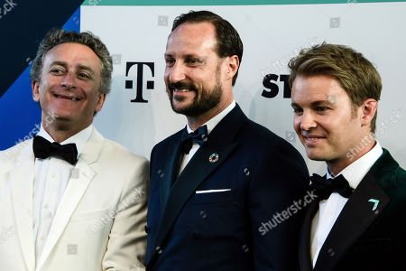 Formula E boss Alejandro Agag, Norwegian Crown Prince Haakon and Former German Formula One driver Nico Rosberg arrive for the Green Awards held on the occasion of the Green Festivals in Berlin, Germany, 24 May 2019.