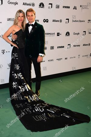 Former German Formula One driver Nico Rosberg and his wife Vivian Sibold arrive for the Green Awards held on the occasion of the Green Festivals in Berlin, Germany, 24 May 2019.