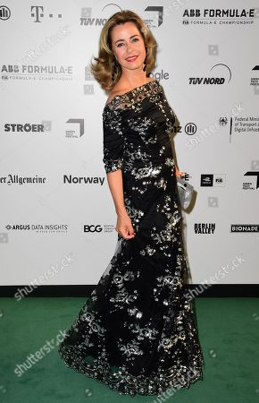 German TV Host Bettina Cramer arrives for the Green Awards held on the occasion of the Green Festivals in Berlin, Germany, 24 May 2019.