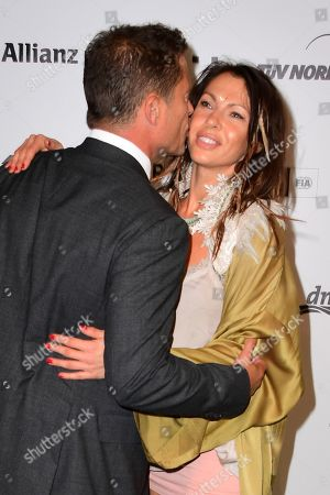 Stock Picture of Til Schweiger (L) and German actress Jana Pallaske hug as she arrives for the Green Awards held on the occasion of the Green Festivals in Berlin, Germany, 24 May 2019.
