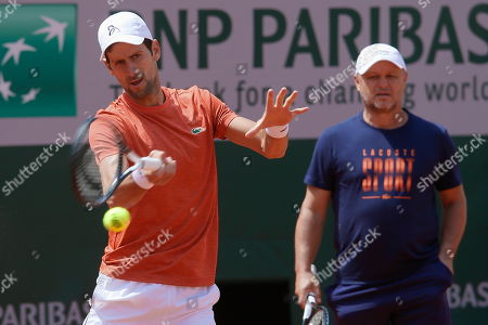 Novak Djokovic and coach  Marian Vajda