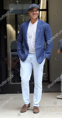 Christopher Jackson out and about, New York