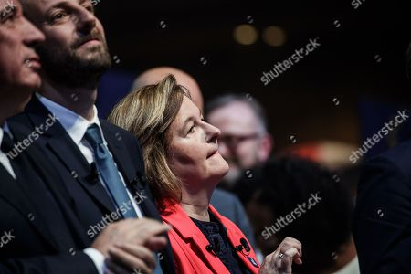 French Member of the La Republique En Marche (LaREM) party and candidate for the European elections Nathalie Loiseau   attends the last European elections campaign meeting in Paris, France, 24 May 2019. The European Parliament election is held by member countries of the European Union (EU) from 23 to 26 May 2019.