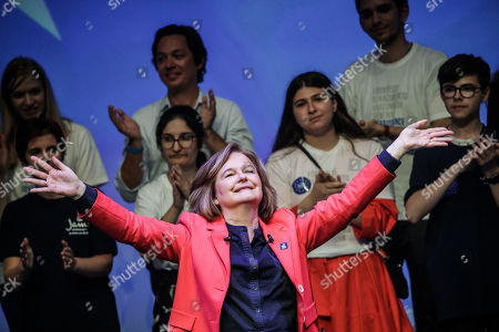 French Member of the La Republique En Marche (LaREM) party and candidate for the European elections Nathalie Loiseau  after her speech during the last European elections campaign meeting in Paris, France, 24 May 2019. The European Parliament election is held by member countries of the European Union (EU) from 23 to 26 May 2019.