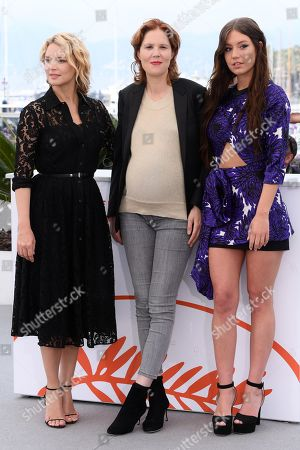 Virginie Efira, Justine Triet and Adele Exarchopoulos