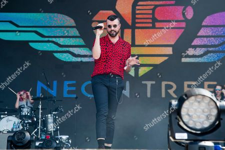 Tyler Glenn of Neon Trees performs at the Bottle Rock Napa Valley Music Festival at Napa Valley Expo, in Napa, Calif