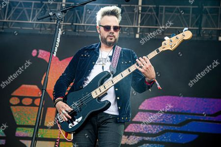Branden Campbell of Neon Trees performs at the Bottle Rock Napa Valley Music Festival at Napa Valley Expo, in Napa, Calif