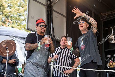 Aaron Sanchez, Michael Voltaggio. Aaron Sanchez, left, and Michael Voltaggio are seen at the Bottle Rock Napa Valley Music Festival at Napa Valley Expo, in Napa, Calif