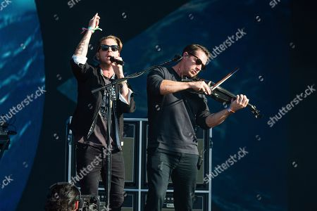 Ryan Tedder, Zach Filkins. Ryan Tedder, left, and Zach Filkins of OneRepublic perform at the Bottle Rock Napa Valley Music Festival at Napa Valley Expo, in Napa, Calif