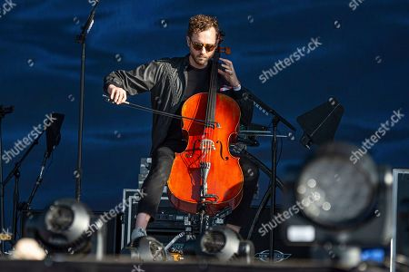 Brent Kutzle of OneRepublic performs at the Bottle Rock Napa Valley Music Festival at Napa Valley Expo, in Napa, Calif