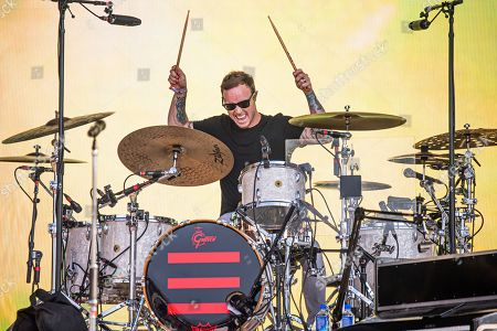 Stock Photo of Eddie Fisher of OneRepublic performs at the Bottle Rock Napa Valley Music Festival at Napa Valley Expo, in Napa, Calif