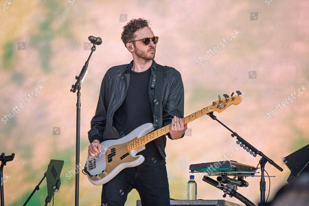 Stock Picture of Brent Kutzle of OneRepublic performs at the Bottle Rock Napa Valley Music Festival at Napa Valley Expo, in Napa, Calif