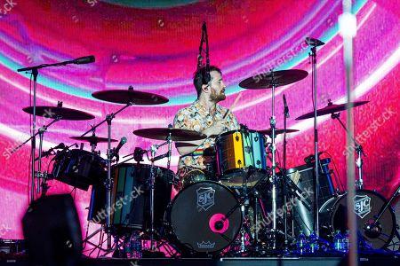 Daniel Platzman of Imagine Dragons performs at the Bottle Rock Napa Valley Music Festival at Napa Valley Expo, in Napa, Calif