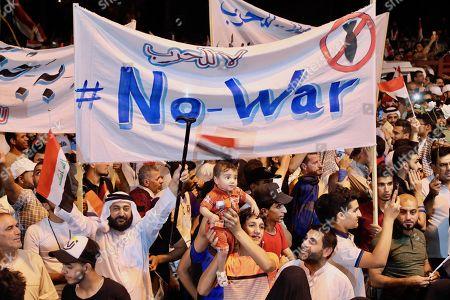 Anti-war demonstration, Tahrir Square, Baghdad