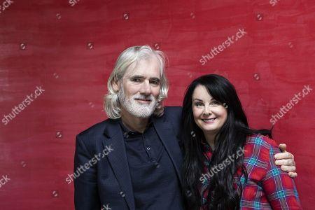 Marian Keyes Irish novelist and non-fiction writer with husband Tony Baines