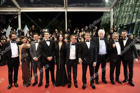 Jennifer Flavin, Sistine Rose Stallone, Kevin King, Christa Campbell, Avi Lerner, a guest, Sylvester Stallone, Paz Vega, Victor Hadida, Jeff Greenstein, Jonathan Yunger and guest