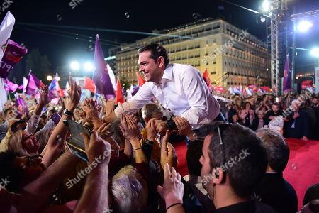 Syriza party pre-election rally, Athens