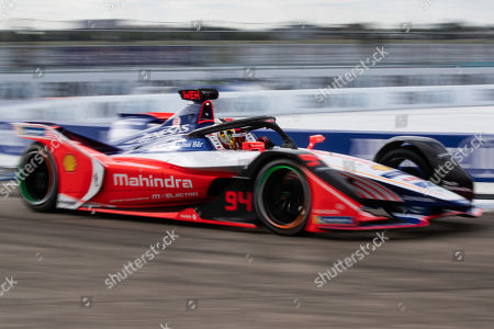 German Formula E driver Pascal Wehrlein of the Mahindra Racing in action during the Formula E Berlin E-Prix 2019 at the Tempelhof airport, in Berlin, Germany, 25 May 2019. The Berlin ePrix is an annual race of the single-seater, electrically-powered Formula E championship.