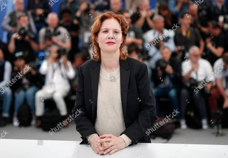 Justine Triet poses during the photocall for 'Sibyl' at the 72nd annual Cannes Film Festival, in Cannes, France, 25 May 2019. The movie is presented in the Official Competition of the festival which runs from 14 to 25 May.
