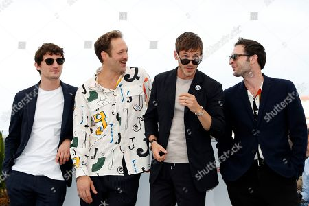 Niels Schneider, French actor Paul Hamy, French actor Gaspard Ulliel and French actor Arthur Harari pose during the photocall for 'Sibyl' at the 72nd annual Cannes Film Festival, in Cannes, France, 25 May 2019. The movie is presented in the Official Competition of the festival which runs from 14 to 25 May.