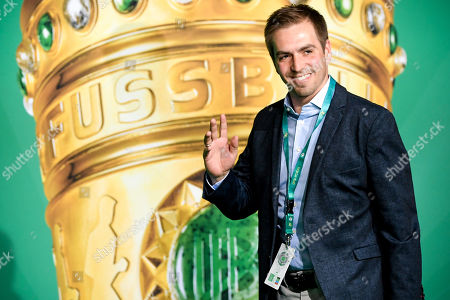 Former German national soccer player Philipp Lahm arrives for the German DFB Cup final soccer match between RB Leipzig and FC Bayern Munich in Berlin, Germany, 25 May 2019.
