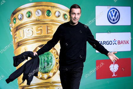 German TV presenter Kai Pflaume arrives for the German DFB Cup final soccer match between RB Leipzig and FC Bayern Munich in Berlin, Germany, 25 May 2019.