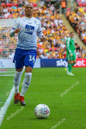 Tranmere Rovers defender Jake Caprice (14) during the EFL Sky Bet League 2 Play Off Final match between Newport County and Tranmere Rovers at Wembley Stadium, London