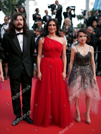 Un Certain Regard Jury Members: Argentine director Lisandro Alonso, President of the Jury, Lebanese actress Nadine Labaki and German producer Nurhan Sekerci-Porst arrive for the Closing Awards Ceremony of the 72nd annual Cannes Film Festival, in Cannes, France, 25 May 2019. The Golden Palm winning movie will be screened after the closing ceremony.
