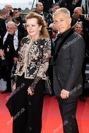 Christoph Waltz (R) and Caroline Scheufele arrive for the Closing Awards Ceremony of the 72nd annual Cannes Film Festival, in Cannes, France, 25 May 2019. The Golden Palm winning movie will be screened after the closing ceremony.