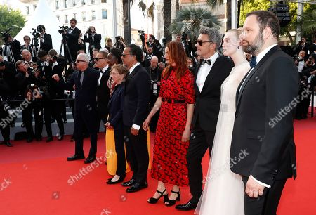 Stock Picture of Jury members, Robin Campillo, Enki Bilal, Maimouna N'Diaye, Kelly Reichardt, President of the Jury, Mexican director Alejandro Gonzalez Inarritu, Alice Rohrwacher, Pawel Pawlikowski, Elle Fanning, Yorgos Lanthimos arrive for the Closing Awards Ceremony of the 72nd annual Cannes Film Festival, in Cannes, France, 25 May 2019. The Golden Palm winning movie will be screened after the closing ceremony.