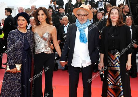 Qatari producer Fatma Hassan Al Remaihi, Lebanese actress Yasmine Hamdan, Palestine director Elia Suleiman and Qatari producer Hanaa Issa arrive for the Closing Awards Ceremony of the 72nd annual Cannes Film Festival, in Cannes, France, 25 May 2019. The Golden Palm winning movie will be screened after the closing ceremony.