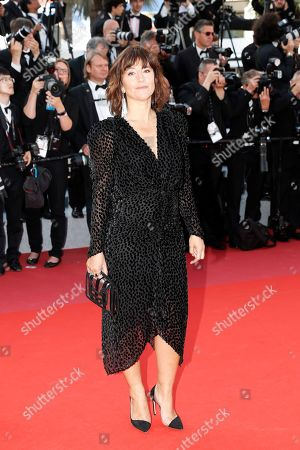 Romane Bohringer arrives for the Closing Awards Ceremony of the 72nd annual Cannes Film Festival, in Cannes, France, 25 May 2019. The Golden Palm winning movie will be screened after the closing ceremony.