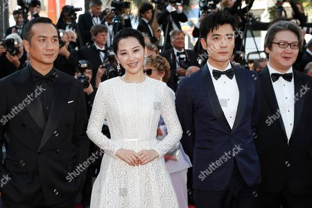 Huang Jue, Chinese actress Xu Qing, Chinese actor Zhu Yi Long and a guest arrive for the Closing Awards Ceremony of the 72nd annual Cannes Film Festival, in Cannes, France, 25 May 2019. The Golden Palm winning movie will be screened after the closing ceremony.